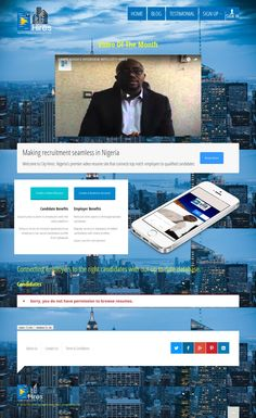 Website Design of City Hires, a recruitment solutions platform which aims to connect recruiters to the right candidates through video resumes  #websitedesign   #website   #design   #Nigeria   #job   #recruitment   #resume   #video