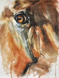 """Saatchi Art Artist Benedicte Gele; Painting, """"Horse Look XV"""" #art"""