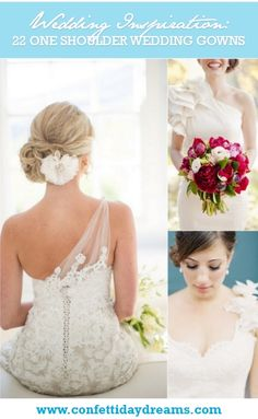 22 One Shoulder Wedding Dresses and Gowns