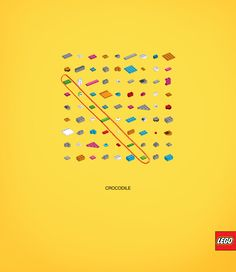 Lego: Words puzzle, Crocodile