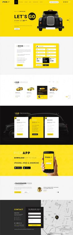 Pickup is a creative onepage #PSD template for #cab, taxi #service website download now➩ https://themeforest.net/item/pickup-cab-service-psd-template/19673976?ref=Datasata