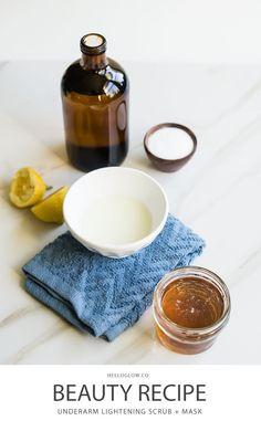 DIY Skin Care Tips :  DIY Underarm Lightening Scrub  Mask