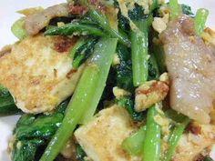 小松菜と豆腐のチャンプル☆の画像
