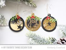 Tag Builder Blueprints 6 Die-namics, Hand-Lettered Christmas Stamp Set, Stitched Star STAX Die-namics, Wild Greenery Die-namics - Kimberly Crawford #mftstamps
