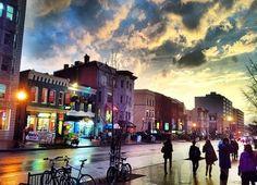 Sunset over P Street - Washington, DC