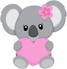 "Photo from album ""koalas"" on - Baby Animals, Cute Animals, Baby Giraffes, Wild Animals, Bear Drawing, Cute Clipart, Cute Drawings, Painted Rocks, Hello Kitty"