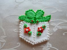 "3"" Christmas gift sugar cookie"