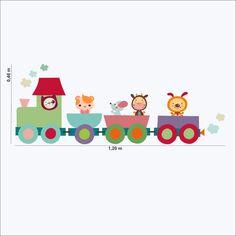Adesivos Trenzinho http://www.mimoinfantil.com.br/adesivos-para-quarto-infantil-trenzinho/