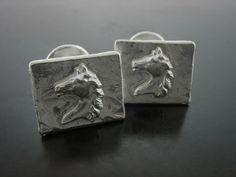 HORSE CUFFLINKS. Sterling Silver - Jelena Behrend Studio. On sale. #jelenabehrendstudio #jbsholidaygifts