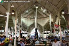 Lau Pa Sat - very famous food pavilion, get the best Singapore street food right here!