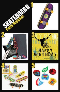 5 Skateboard Party Supplies for Your Skateboarding Party!