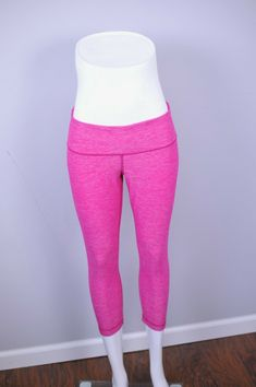 5a12fe51cd LULULEMON WUNDER UNDER Crop Pink Heather Women's 10 - $14.50. Women's Lululemon  Wunder Under Crop