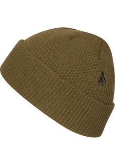 Volcom Full-Stone-Cuff, Beanie, brown #Beanie #AccessoriesMale #titus #titusskateshop