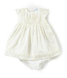 Shop for Edgehill Collection Baby Girls Newborn-6 Months Smocked Flutter Sleeve Dress at Dillards.com. Visit Dillards.com to find clothing, accessories, shoes, cosmetics & more. The Style of Your Life.