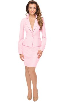 Womens Pink Suit Jacket - JacketIn