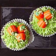 Pumpkin Patch Cupcakes From Better Homes and Gardens, ideas and improvement projects for your home and garden plus recipes and entertaining ideas.