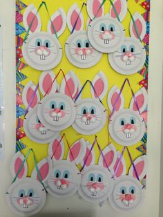 The bunny baskets our preppies made with the help of our TA's. We decided to hang them to display in the days leading up to the Easter bunny visiting. They were then filled with eggs from the bunny and left hidden around the classroom.
