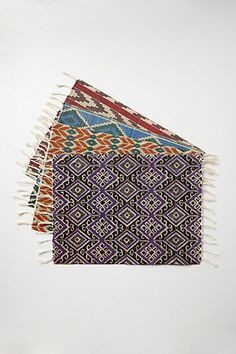 hand woven tenum placemats bohemian kitchen dining