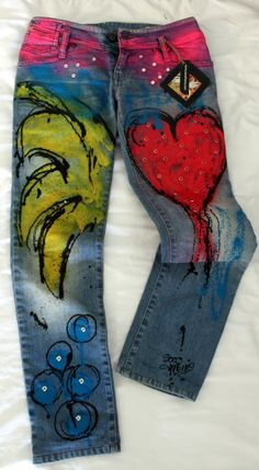 #hand painted #jeans www.socofreire.com