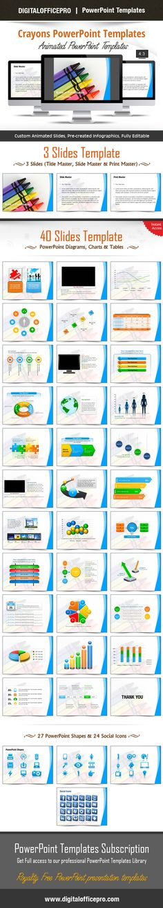 Impress and engage your audience with colorful crayons powerpoint crayons powerpoint template backgrounds toneelgroepblik Image collections