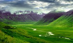 Lush green valleys of Southern Iceland #travel #vacation #iceland