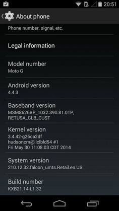 Android OTA update for the Motorola Moto G Captured Android 4, Software, Usb