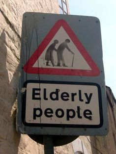 elderly people crossing in Scotland. I actually saw these while I was there!