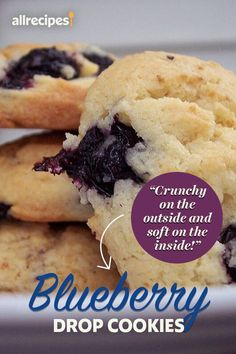 """Blueberry Drop Cookies 