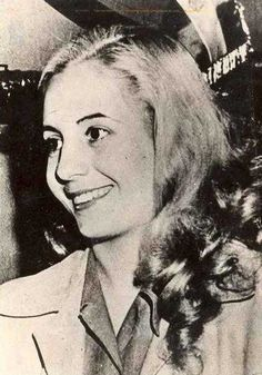 Evita, First Lady of Argentina. She grew up in poverty after her father abandoned her family. When she was 15 she moved to Buenos Aires to be an actress. Less than 10 years later Eva met & married Juan Peron who would eventually become the presdient of Argentina. Eva died of cancer when she was 33.