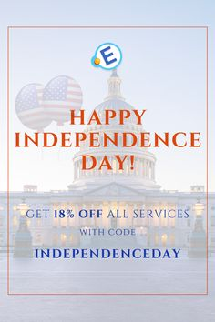 """Especially for #IndependenceDay, our #online #service #offers you a #discount. Get an 18% off any #order by using #promocode """"IndependenceDay"""". Hurry up, this #offer is valid only till #July 9! #Independence #students #studentslife #essays #academic #homework #work #sale #discount"""