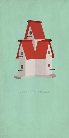 Mi casa es tu casa. by Alexa Sonsino, via Behance