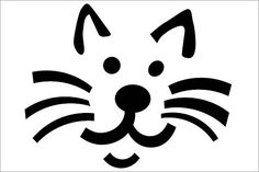 Here's a Cat pumpkin carving stencil to put you in a scary mood. This printable Halloween pumpkin carving stencil will put a fright into trick or treat visitors or smiles on your costume party guests. Cat Face Pumpkin, Cat Pumpkin Carving, Halloween Pumpkin Carving Stencils, Pumpkin Carving Patterns, Pumpkin Faces, Pumpkin Stencils Free Printable, Printable Pumpkin Patterns, Pumpkin Face Templates, Pumpkin Template