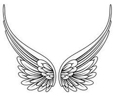 angel wing tattoo flash - Google Search