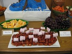 "viking snacks...this was actually a ""how to train your dragon"" party, so there are lots of dragon references. hmm."