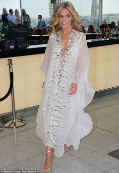 Golden girl Mollie King shows her modelling credentials as she sashays down the catwalk at Odabash/Macdonald show Mollie King, Girls Kaftan, White Kaftan, Accessorize Fashion, Beach Kaftan, Arab Fashion, Queen Dress, Traditional Outfits, Fashion Dresses