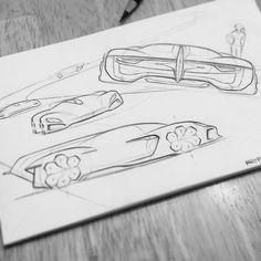 Lower.... wider...... ⬅⬇➡ ° ° #porsche #sketch #racecar #lemans…