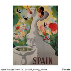 Spain Vintage Travel Tourism Art Postcard