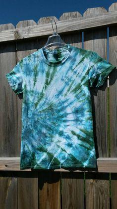 Tie Dye Shirt, Hippie Clothes, Blue and Green Tie Dye Shirt  https://www.etsy.com/listing/231451690/tie-dye-shirt-blue-and-green-tie-dye