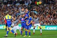 Leonardo Bonucci of Juventus heads the ball during the match between...