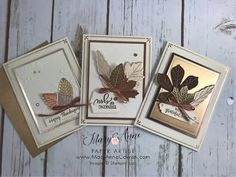 Fall Cards, Christmas Cards, Leaf Cards, Thanksgiving Cards, Sympathy Cards, Halloween Cards, Paper Cards, Creative Cards, Scrapbook Cards