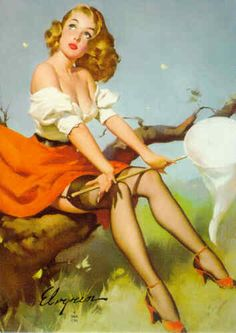Just chillin' with some nature. Pin up girls #pinup #retro #vintage