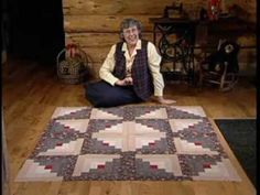 Log cabin quilt in a day.. Even Burns pt 2