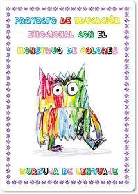 Burbuja de Lenguaje: El Monstruo de Colores Preschool Spanish, Elementary Spanish, Spanish Activities, Kids Learning Activities, Color Activities, Teaching Spanish, Alphabet For Kids, Monster, Classroom Organization