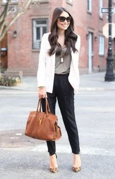 chic fashion work street casual outfit