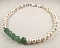 Beautiful Freshwater Pearl Set, Exotic Pearl Necklace+Bracelet by JiaojiaosPearls on Etsy