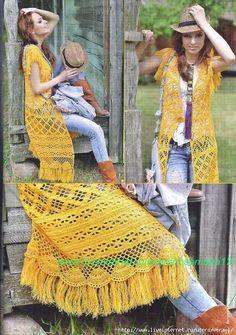 Como hacer un kimono tejido a crochet