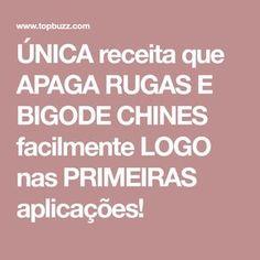 ÚNICA receita que APAGA RUGAS E BIGODE CHINES facilmente LOGO nas PRIMEIRAS aplicações!