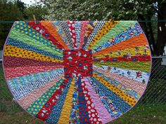 Dr. Seuss Baby Toddler Child Round Quilt by EggMoneyQuilts on Etsy, $145.00