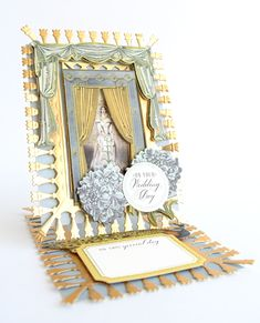 QVC UK September 24th, 2018- Product Preview 2 - Anna Griffin Anna Griffin Inc, Anna Griffin Cards, Side Step Card, Step Cards, Diy Cards, Window Cards, Shaped Cards, Easel Cards, Card Kit