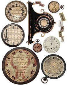 """Where Does the Time Go?"" ~ FREE Vintage Clock Face Printables ~ Printies 1 ~ Joyce hamillrawcliffe ~ Picasa Web Albums"